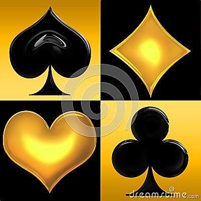 Juegos de oro de la tarjeta que juega