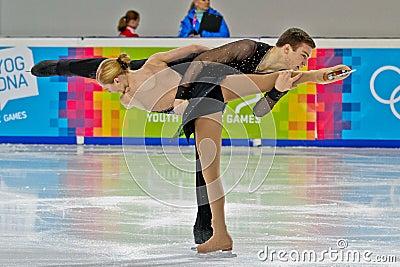 Juegos Olímpicos 2012 de la juventud Imagen de archivo editorial