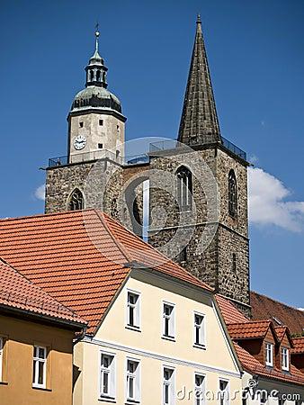 Jueterbog-St.Nicholas towers