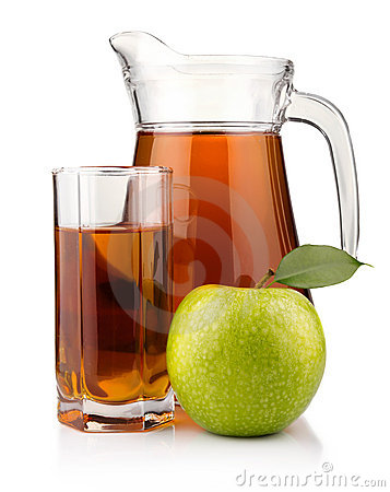 Free Jug And Glass Of Green Apple Juice Isolated Royalty Free Stock Photos - 19139308