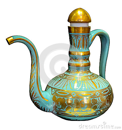 Free Jug Blue With Gold Designs Of Ancient. Royalty Free Stock Images - 85252239
