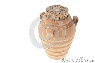 Jug with a cork