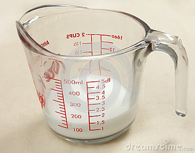 Jug of milk used in cooking