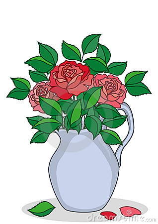 Jug with roses