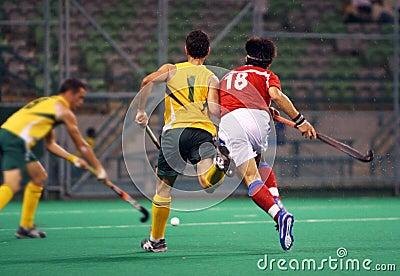 Jugador de hockey en la acción