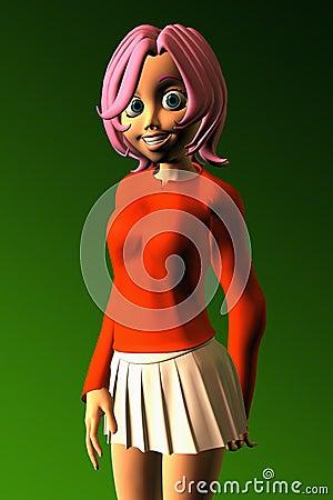 Jugendlich Mädchen mit einem Toothy Lächeln