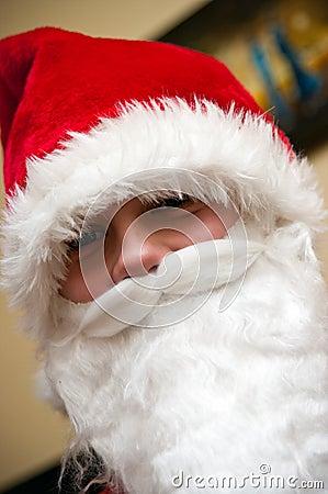 Jugendlicher Weihnachtsmann