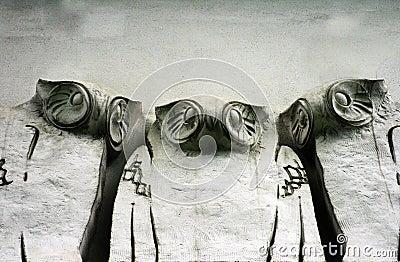Jugendstil Grunge Owls