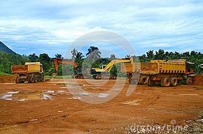 Juggernauts at Construction Site