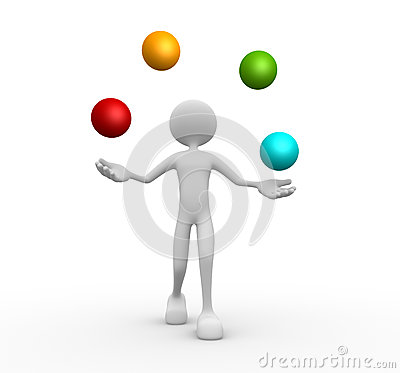 Juggle with a spheres. Balls