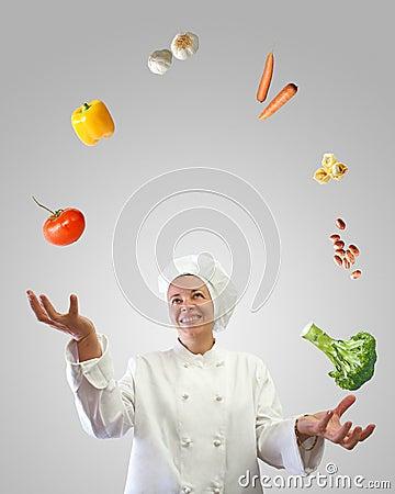 Juggler do cozinheiro