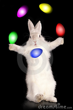 Juggler of easter eggs