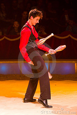 Juggler perform Editorial Stock Photo