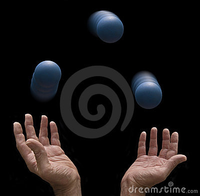 Juggler with three balls