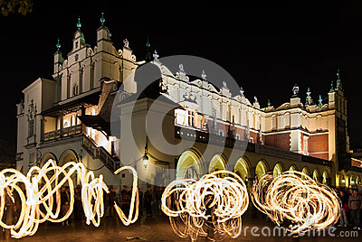 Jugglers in Krakow Editorial Photo