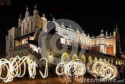 Jugglers in Krakow Editorial Photo