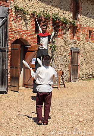 Jugglers medioevali Immagine Stock Editoriale