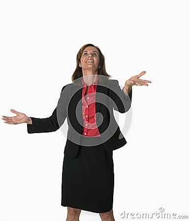 Juggling business woman