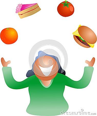 Juggling diet