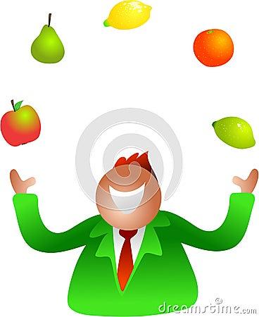 Juggling fruit