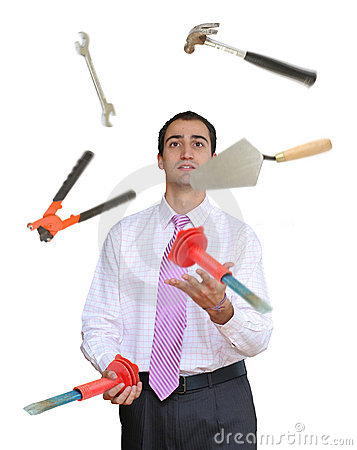 Juggling hand tools
