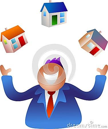 Free Juggling Homes Royalty Free Stock Photo - 379385