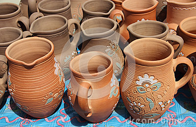 Jugs from clay.