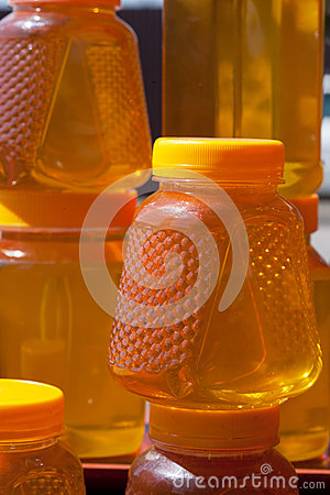 Jugs with honey