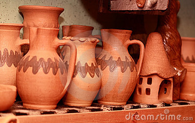 Jugs and ornaments