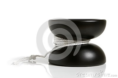 Juguete negro del yoyo