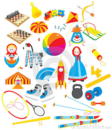 Juguetes y accesorios que se divierten