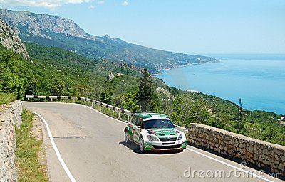Juho Hanninen on IRC Yalta Rally 2011 Editorial Stock Photo