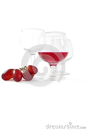 Juice and grape