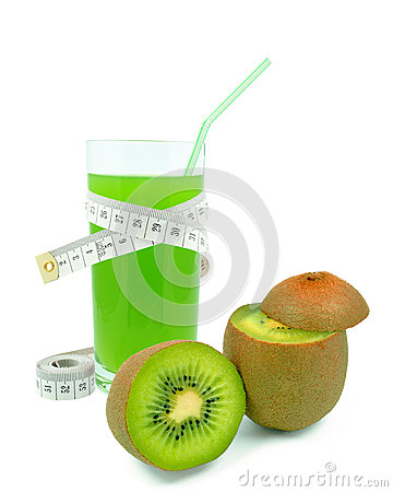 Juice with kiwi and meter