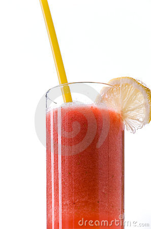 Juice of mixed fruits,peach-freshly squeezed