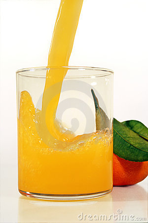Juice with orange