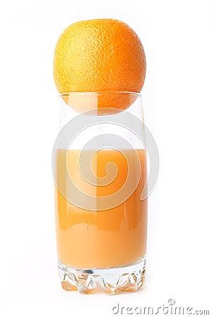 Juice orange isolated