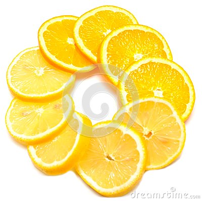 Juice orange with lemon