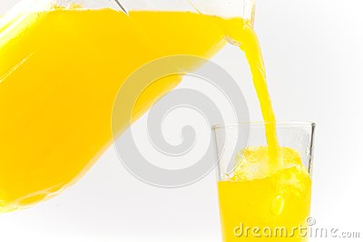 Juice poured into a glass