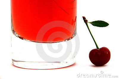 Juice of a sweet cherry