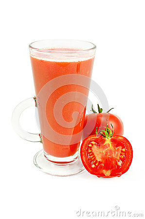 Free Juice Tomato In A Tall Glass Royalty Free Stock Image - 26569686