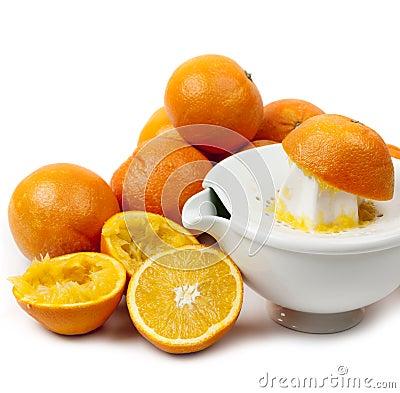 Juicing-Orangen