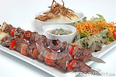 Juicy beef kebabs