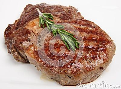 Juicy Beef Rib-Eye Steak