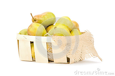 Juicy flavorful pears in box