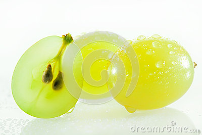 Juicy green grapes