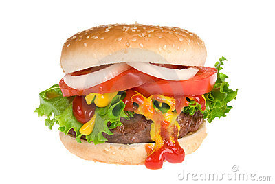 Juicy Hamburger Stock Image - Image: 6817521