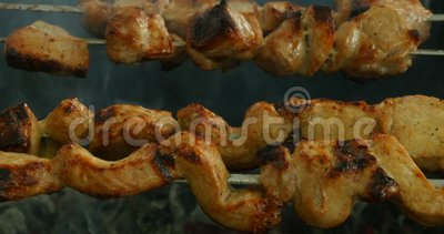 Juicy kebab απόθεμα βίντεο