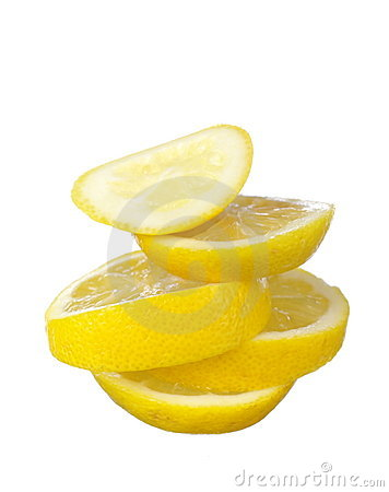 Juicy lemon slices