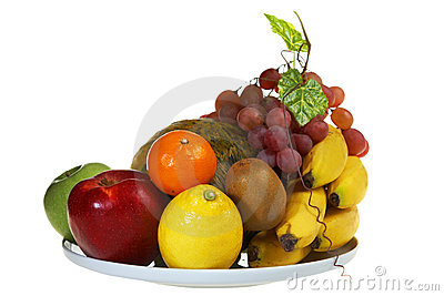 Juicy plate of Fruits